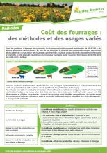 Coût des fourrages : des méthodes et des usages variés