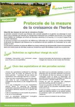 Protocole de la mesure de la croissance de l'herbe PNG