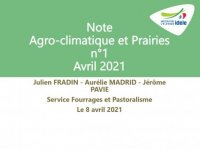 Note Agro-climatique et Prairies - Avril 2021
